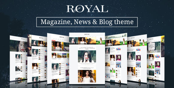 Royal by Wiloke is a news magazine WordPress theme which features Retina display support, support for RTL languages, Mega Menu, fully responsive layouts, search engine optimization, Google Fonts support, WooCommerce integration, clean design, Bootstrap framework utilization, magazine style layouts, is great for your personal site and a grid layout.