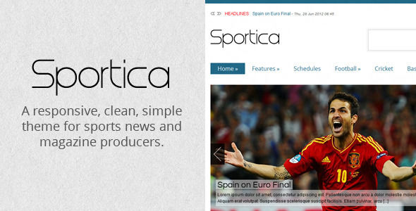 Sportica by FahimMurshed is a news magazine WordPress theme which features support for RTL languages, fully responsive layouts, Google Fonts support, clean design and magazine style layouts.