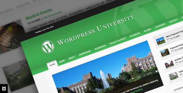 University by TheMOLITOR is a WordPress theme for colleges and universities which features support for RTL languages, fully responsive layouts, clean design and corporate style visuals.