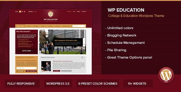 WP Education by Vuzzu is a educational WordPress theme which features fully responsive layouts, search engine optimization and blogging related layouts and optimizations.