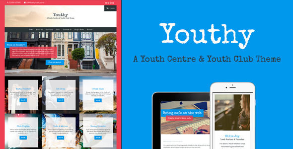 Youthy by Meanthemes is a educational WordPress theme which features Retina display support, support for RTL languages, fully responsive layouts, Google Fonts support, WooCommerce integration, clean design, Colorful and minimal design.