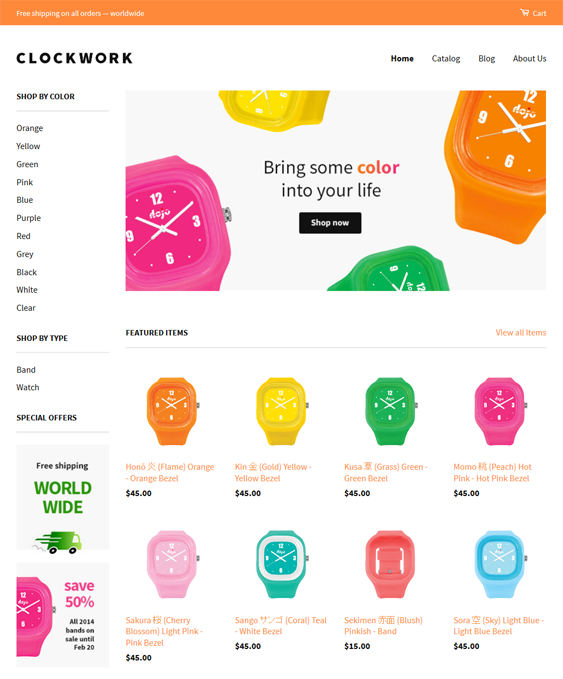 classic free responsive shopify themes