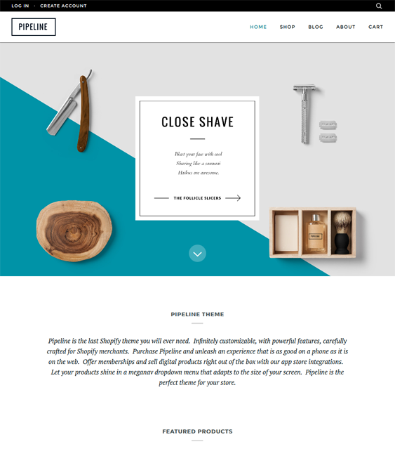 shopify themes for mes grooming products supplies feature