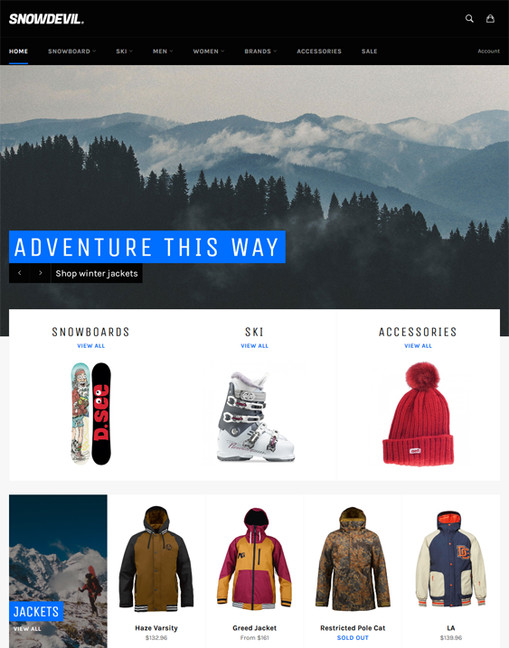 Shopify Themes For Online Sports Stores