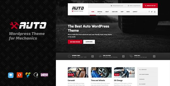 Auto by ProteusThemes is a WordPress theme for automotive websites which features Retina display support, fully responsive layouts, search engine optimization, Revolution Slider, WooCommerce integration, clean design, Bootstrap framework utilization, support for photo galleries, can be used for your portfolio and a grid layout.