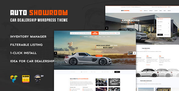 Auto Showroom by Plazart is a WordPress theme for automotive websites which features Retina display support, parallax elements, support for RTL languages, Mega Menu, fully responsive layouts, search engine optimization, Google Fonts support, Revolution Slider, WooCommerce integration, clean design, Bootstrap framework utilization and a grid layout.