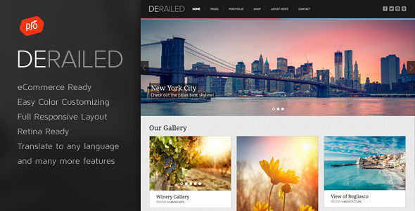 DeRailed by ProgressionStudios (WordPress theme)