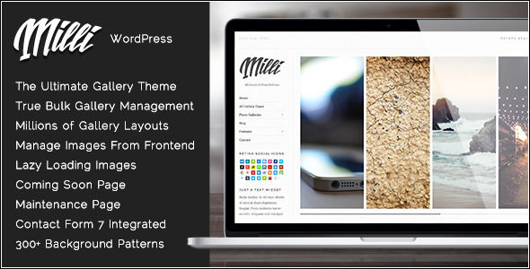 Milli by Tommusrhodus (WordPress theme)