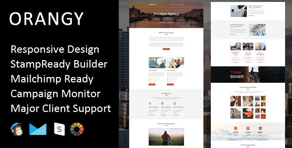 Orangy by Fourdinos (HTML Email Template)