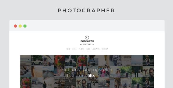 Photographer by Pixelwars (WordPress theme)