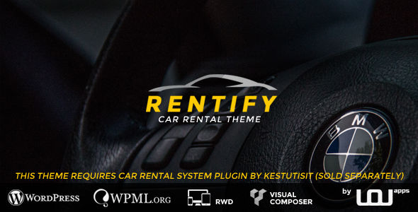 Rentify by Uouapps is a WordPress theme for automotive websites which features support for RTL languages, fully responsive layouts, clean design and Bootstrap framework utilization.