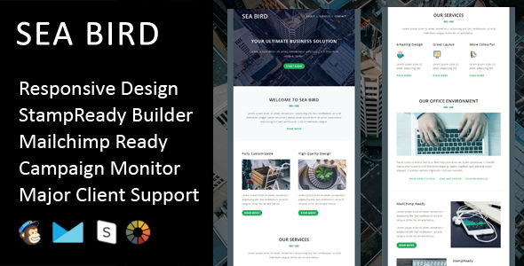 Sea Bird by Fourdinos (HTML Email Template)