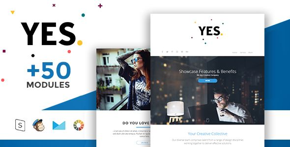Yes by Masline (HTML Email Template)