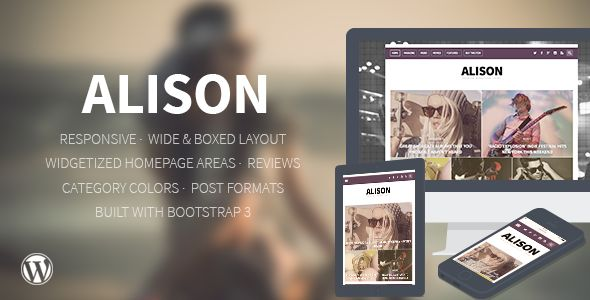 Alison by Inibot (viral WordPress theme)