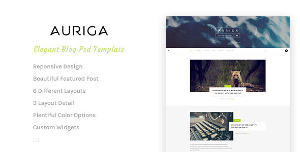 Auriga by AZ-Theme (video blog WordPress theme)