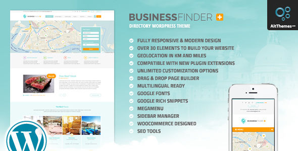 Business Finder by Ait (WordPress theme)