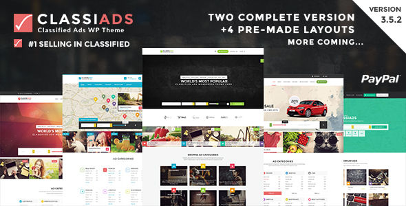 Classiads by Designinvento (WordPress theme)