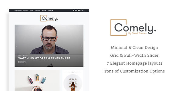 Comely by GleedThemes (video blog WordPress theme)