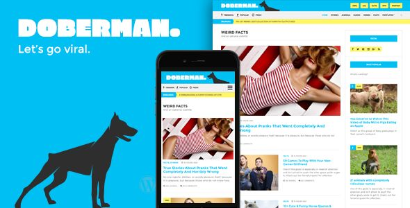 Doberman by Cssignitervip (viral WordPress theme)