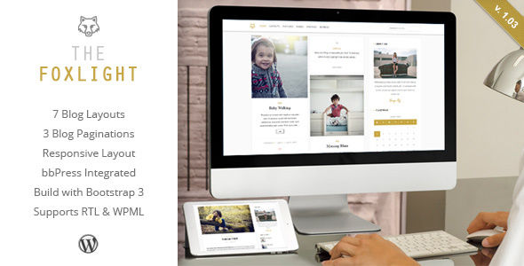 Foxlight by ZERGE (video blog WordPress theme)