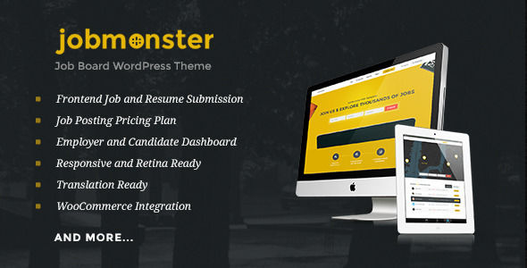 Jobmonster by NooTheme (WordPress theme)