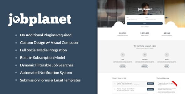 Jobplanet by Jegtheme (WordPress theme)