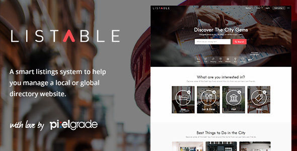 LISTABLE by Pixelgrade (WordPress theme)
