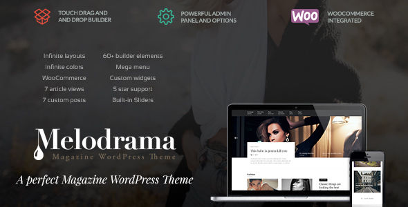 Melodrama by Upcode (video blog WordPress theme)