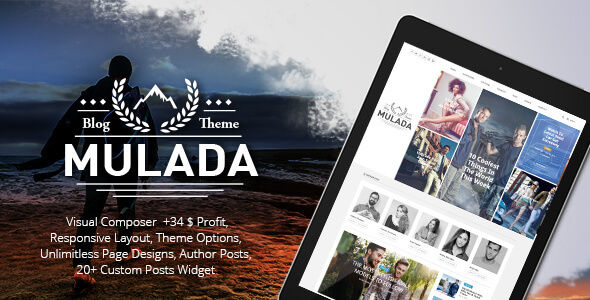 Mulada by GloriaTheme (video blog WordPress theme)