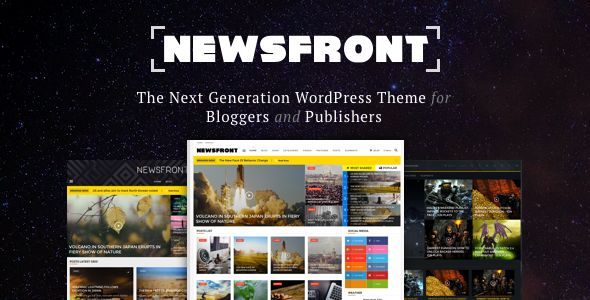 NewsFront by FranklinM2 (viral WordPress theme)