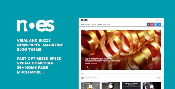 Noes by Geniuspro (viral WordPress theme)