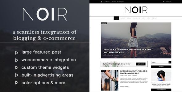 Noir by WPExplorer (video blog WordPress theme)
