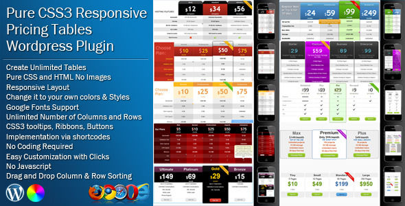 Pure CSS Responsive Pricing Tables For WordPress by Zeeq (pricing table plugin)
