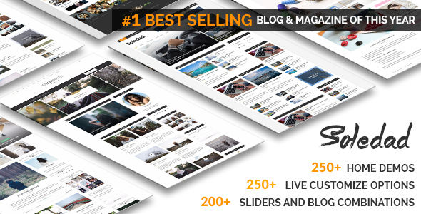 Soledad by PenciDesign (video blog WordPress theme)