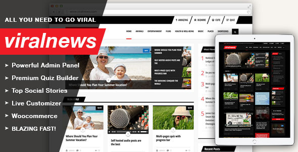 ViralNews by Uiuxaesthetics (viral WordPress theme)