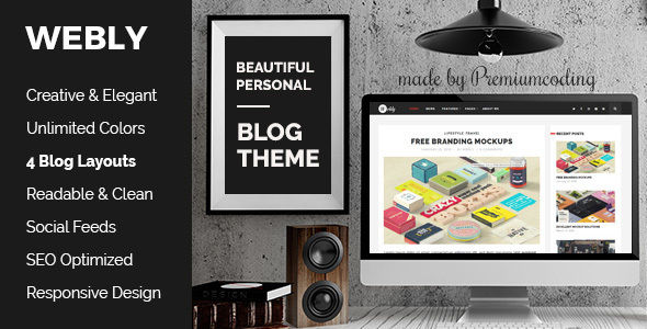 Webly by Gljivec (video blog WordPress theme)