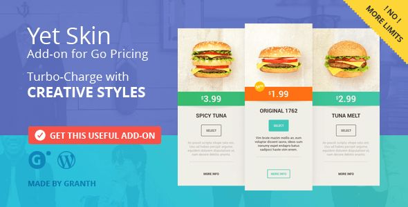 Yet Skin by Granth (pricing table plugin)