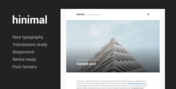 Hinimal by Pixesthemes (video blog WordPress theme)