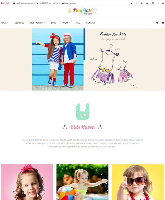 linda kids shopify themes