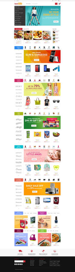 Ultimate Grocery Outlet Store Premium Responsive Magento Theme - Everest