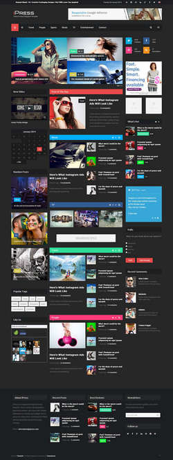 iPress - Responsive News - Magazine - Blog - Game