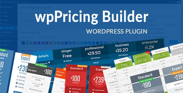 WpPricing Builder by Swebdeveloper (pricing table plugin)