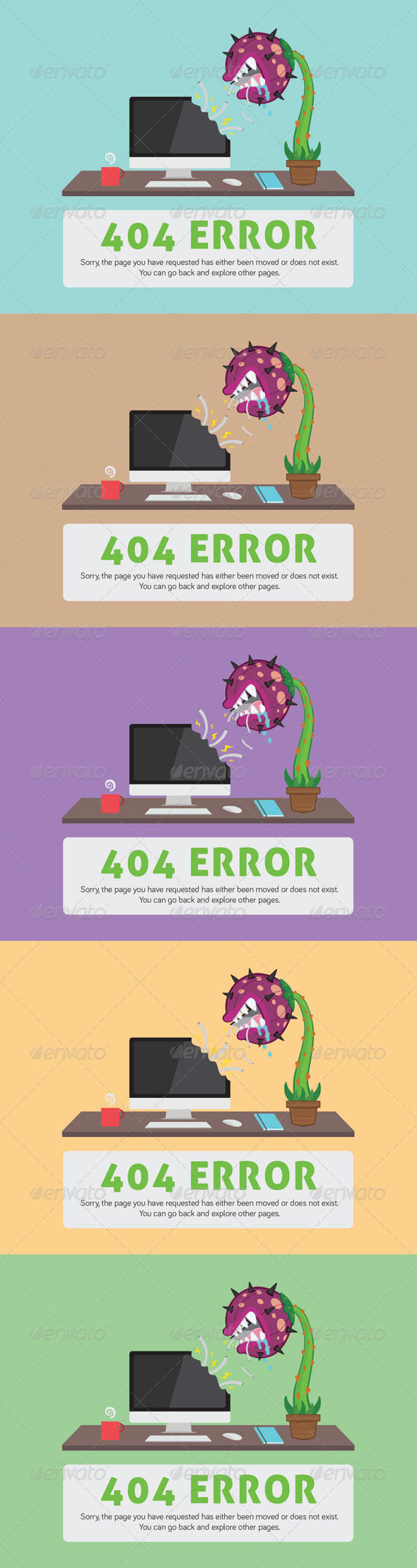 Carnivorous Plant ERROR Web Page by AddtoFavorites (layered 404 page template)