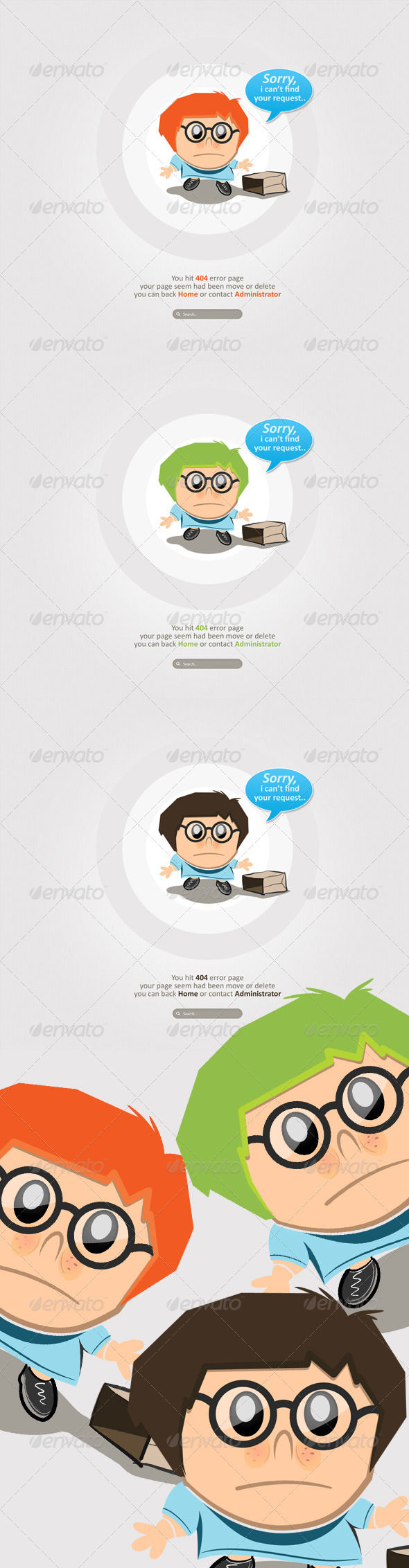 Clean And Simple Character Error by AddtoFavorites (layered 404 page template)