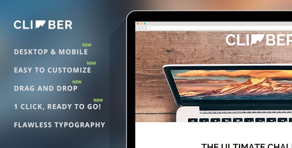 Climber by ReyMarval (landing page template for PageWiz)
