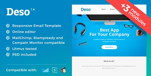 Deso by MaestoMail (email templates for use with Mailchimp)