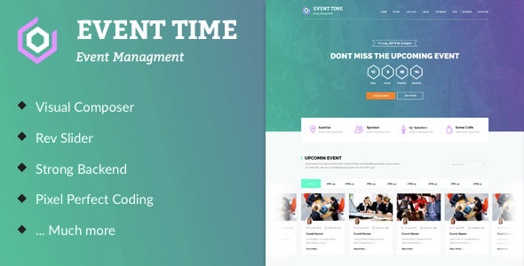 Event Time by ThemeInnovation (event & conference WordPress theme)