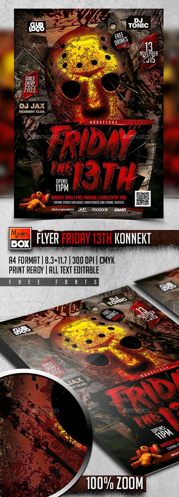 Flyer Friday Th Konnekt by MonkeyBOX (Halloween party flyer)