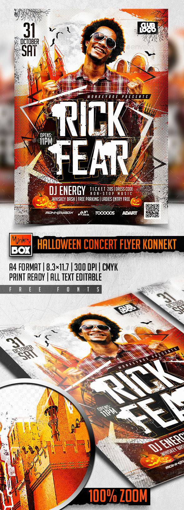 Halloween Concert Flyer Konnekt by MonkeyBOX (Halloween party flyer)