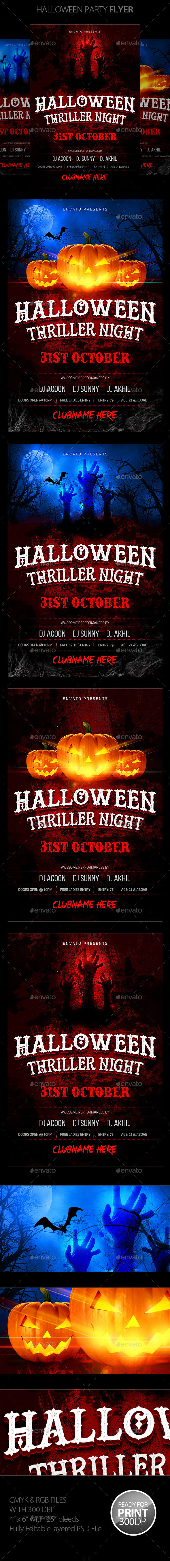 Halloween Flyer by Mantushetty (Halloween party flyer)